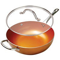 Copper 12 Inch Wok Pan