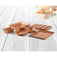 Copper Bakeware 6 Piece Set
