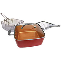 "Red Copper 10"" Square Pan 5 Piece Set"