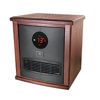 Heat Storm Logan 1500W Infrared Heater - Dark Walnut