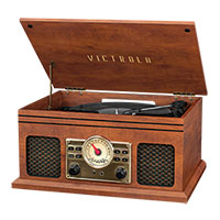 Victrola Record Player/CD Player/Stereo with Bluetooth - Mahogany