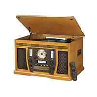 Victrola Oak Aviator Music System