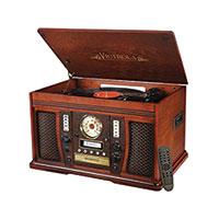 Mahogany Victrola Aviator Music System