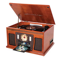Victrola VTA-300B 7-in-1 Music System with Bluetooth