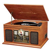 Innovative ITVS-200B 6-in-1 Bluetooth Turntable Entertainment System
