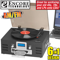 Encore Tech 6-In-1 Music System