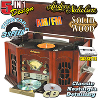 Cherry Anders Nicholson Nostalgia Turntable System