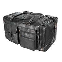 RoadPro Patch Leather Duffel Bag