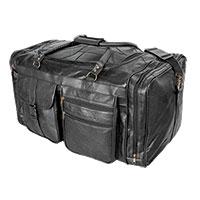 RoadPro Patch Leather Duffel Bag