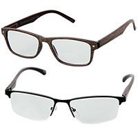 Icon Men's 2.5X Reading Glasses - 2 Pack