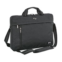 "Solo 15.6"" Black Top-Load Briefcase"