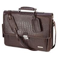 Vintage Leather Faux Crocodile Leather Briefcase