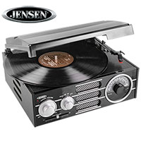 Jensen JTA-300 3-Speed Turntable with AM/FM Radio