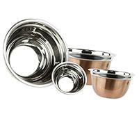 Copper Finish Mixing Bowls - 4 Piece Set