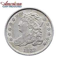 American Coin Treasures Silver Capped Bust Dime