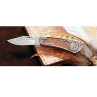 Buffalo Nickle Pocket Knife with Genuine Ruby