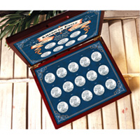 1986-2007 Brilliant Uncirculated American Silver Eagle Collection in Wood Box