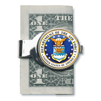 Silver-toned Moneyclip with Airforce JFK