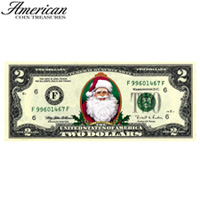 Merry Money Color 2 Dollar Bill