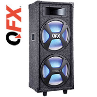 QFX SBX-212 Carpeted 12 Inch Bluetooth Speaker