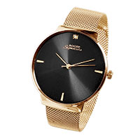 Men's Rogue Gold Band/Black Dial Watch