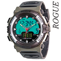 Rogue Men's Gray Digital Watch