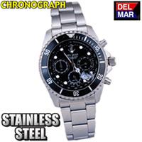 Del-Mar Black Chronograph Watch