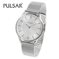 Pulsar PTA514 Men's White Dial Mesh Band Watch