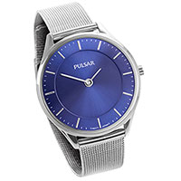 Pulsar Ladies Blue Mesh Watch