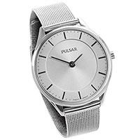 Pulsar Ladies White Mesh Watch