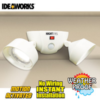 Twin Wireless Security Lights - White