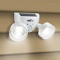 Dual Use Alarm with 70dB Siren and LED Light - White