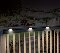 Ideaworks Solar Deck Lights - 12 Pack