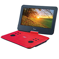 Impecca DVP1330 Red 13 Inch Portable DVD Player