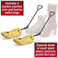 Womens Wood Boot Stretcher - Fits sizes 5-10