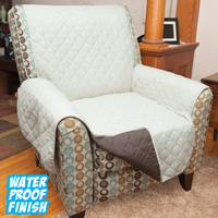 Polyester Reversible Chair Cover - Tan