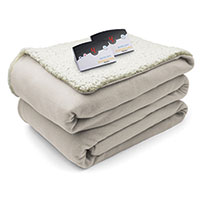 Biddeford Electric Sherpa Blanket - Natural