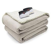 Biddeford Electric Sherpa Blanket - Natural