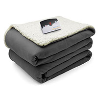 Biddeford Electric Sherpa Blanket - Grey