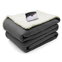 Biddeford Electric Sherpa Blanket - Grey