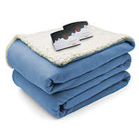 Biddeford Electric Sherpa Blanket - Blue