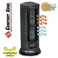 Comfort Zone 1500W Oscillating Tower Heater/Fan