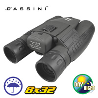 12.5mm Cassini Day/Night Binoculars with 750' Range