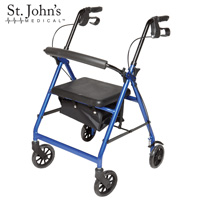 St John's Medical Premium Rolling Walker - Blue