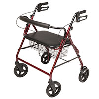 Lumex Imperial Bariatric 4-Wheel Burgundy Rollator