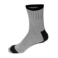 Fourcast Men's Grey Heavy Duty Work Socks