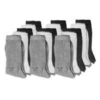 Fourcast Men's Combo Crew Socks - 15pk