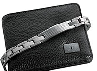 Stainless Steel Lord's Prayer Bracelet & Wallet