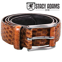 Stacy Adams Mens Tan Weave Belt