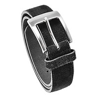 Black Men's Stacy Adams Suede Belt